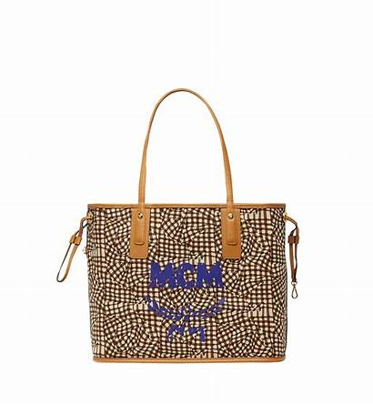 Liz Shopper Mcm Cognac Visetos Reversible Damen