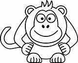 Monkey Cartoon Clipart Coloring Pages Clip Outline Spider Cute Template Animals Vector Animal Clker Cliparts Powerpoint Printable Print Clipartbest Front sketch template