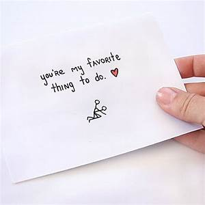 You're My Favorite Thing To Do Card - hilarious Valentine ...
