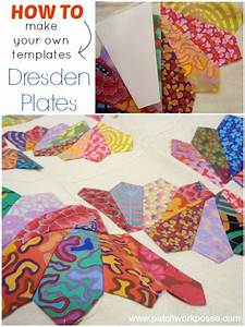 Dresden plate quilt block tutorial and template for How to make a dresden plate template