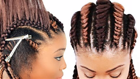 tree braids cornrows  beginners youtube