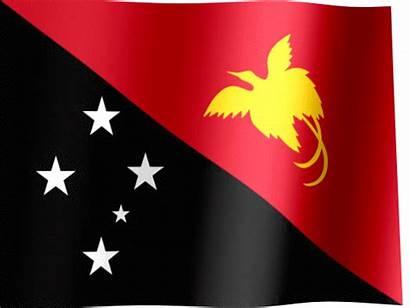 Guinea Papua Flag Flags Waving Bird Animated
