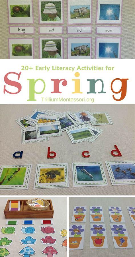 spring literacy activities  preschoolers trillium
