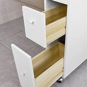Meuble De Rangement Papier : sobuy frg51 w meuble de rangement roulettes wc porte papier toilettes porte brosse wc ~ Teatrodelosmanantiales.com Idées de Décoration