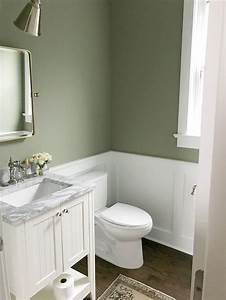 our, powder, room, , painting, the, walls, sage, green