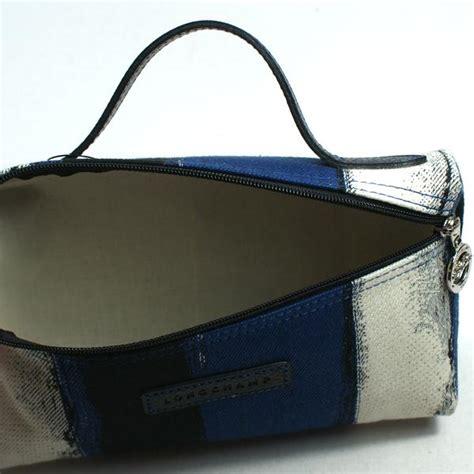 longchamp coup de pochette blue small pouch cosmetic bag