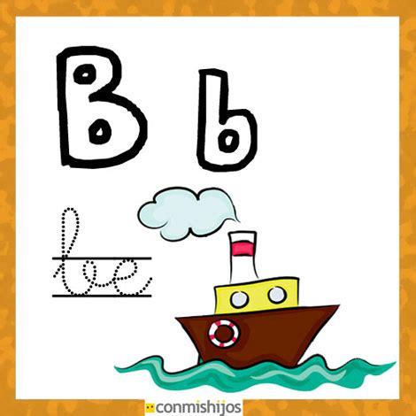 fichas para aprender las letras y colorear letra b