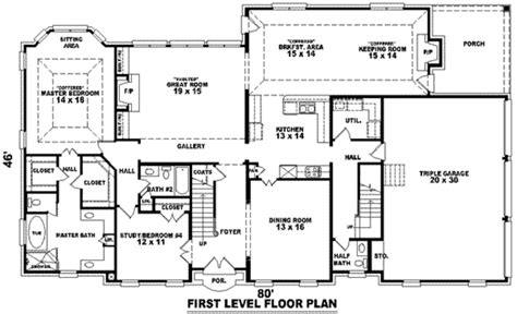 5 bedroom house plans with bonus room best of 3500 sq ft ranch house plans home plans design