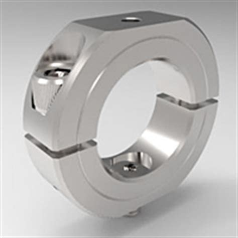shaft mounting collars  piece split clamp type stackable  stafford manufacturing corp
