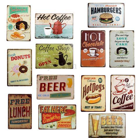 affiche cuisine retro plaque metal food émaillée affiche mural
