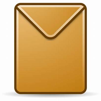 Envelope Clip Clipart Manila Brown Cartoon Domain