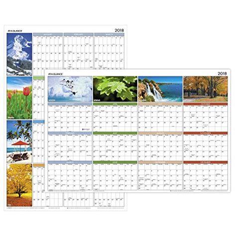 glance yearly wall calendar horizontal vertical