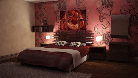 Nightly Red Bedroom By Perbear On Deviantart