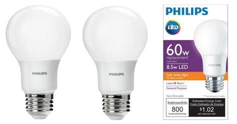 home depot philips 60w equivalent led light bulbs 4 pack