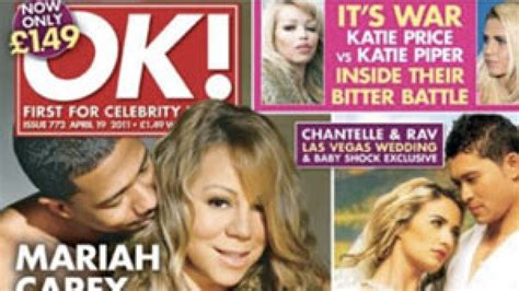 Nick Cannon Covers Up Pregnant Mariah Carey's Breasts On