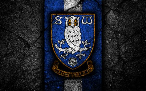 Download wallpapers 4k, Sheffield Wednesday FC, logo, EFL ...