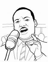 Luther Martin King Jr Coloring Raskrasil Birmingham Performs sketch template