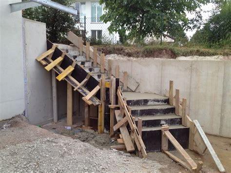 betontreppe schalung herstellen hangsicherung und betontreppe hausbau ein baublog