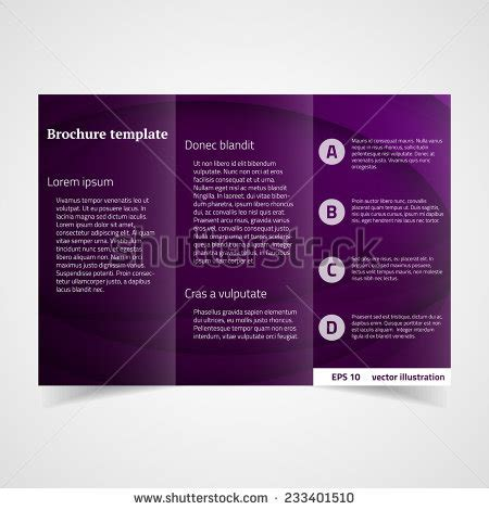 Vector Brochure Template A4 Format Layout Home Page And Business Brochure Template Stock Vector 277218344