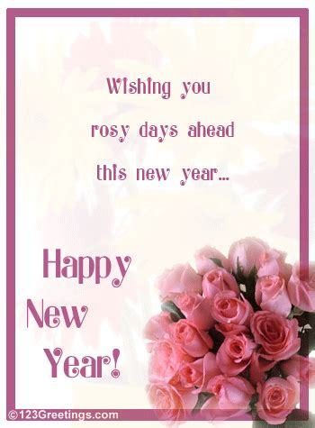 romantic  year wishes  flowers ecards greeting