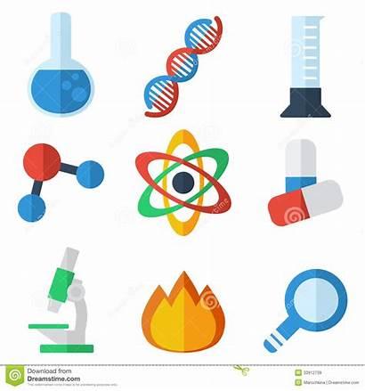 Science Icon Flat Symbols Icons Medicine Vector