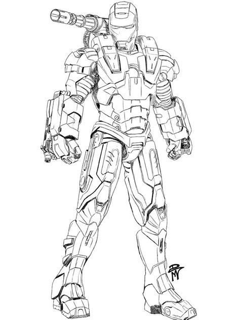 war machine coloring pages  printable war machine