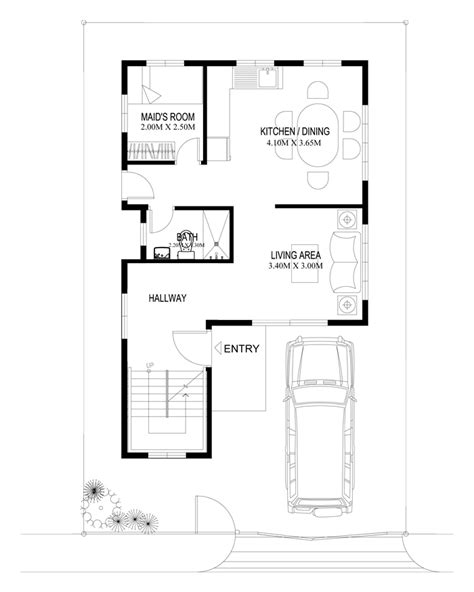 narrow house plans with garage two house plans series php 2014004