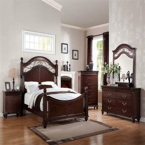 Bedroom Furniture Sets On Ebay by Cleveland Cherry Formal Traditional Antique Bed 4pcs