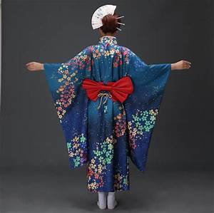 Women's formal Robe Long design Traditional kimono cos ...
