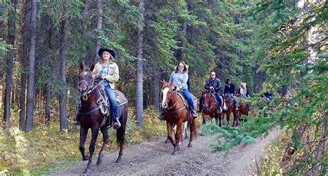 riding horseback park
