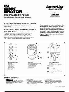Badger 5 Garbage Disposal User Manual