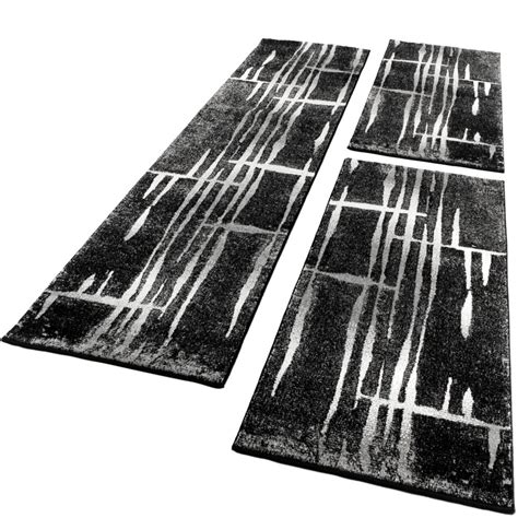 Designer Teppich Läufer by Bettumrandung L 228 Ufer Teppich Meliert Design Grau S Real