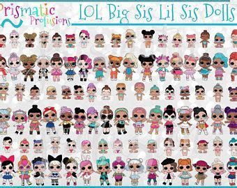 lol surprise dolls lil sister doll image clipart lo