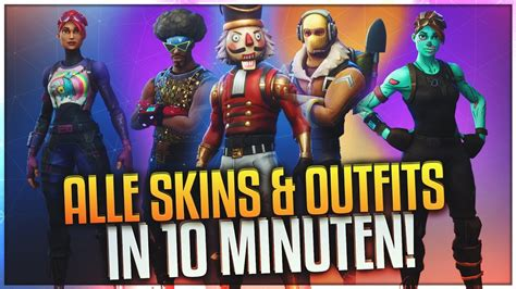 alle skins outfits   minuten fortnite battle