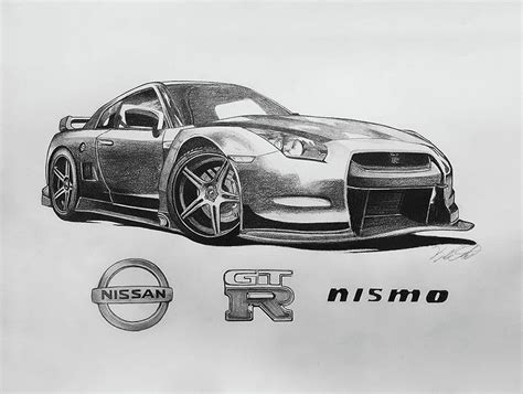 Nissan Gt-r R35 Nismo Drawing By Kyle Casteel