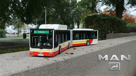 lego technic man lions city articulated bus youtube