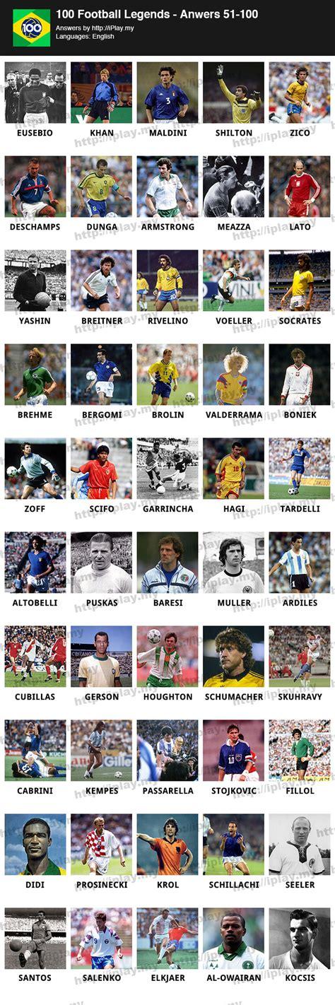 100 Football Legends Answers Iplaymy