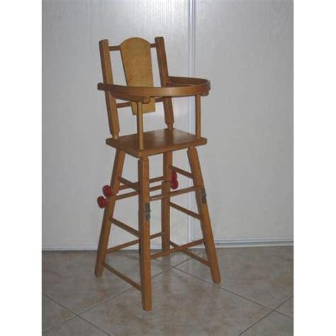 chaise haute en bois ancienne chaise haute bébé en bois occasion ouistitipop