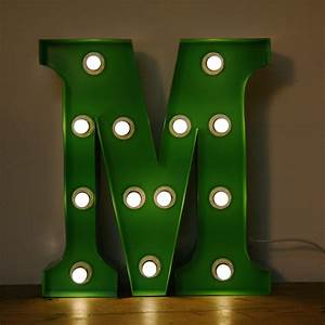 vintage marquee circus light up letter m green the With letter m light
