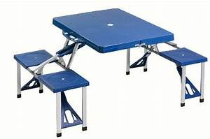 Table Pliante Valise : cao camping table valise pique nique ~ Melissatoandfro.com Idées de Décoration