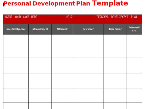 personal development plan template get personal development plan template word microsoft project management templates