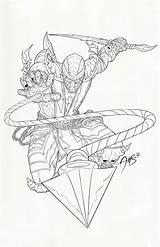 Scorpion Mortal Kombat Mk Coloring Zero Sub Drawing Lineart Rain Deviantart Outline Drawings Character Fan Getdrawings Lukane sketch template