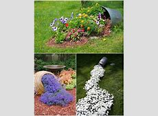 Outdoor amazing flower bed ideas encanting green round