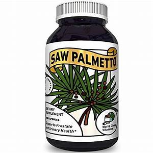 Pure Saw Palmetto Supplement For Prostate   Urinary Health  U2013 Prostate Care Capsules With Hair