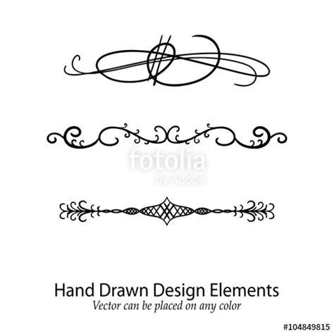 text decoration underline spacing quot abstract vector design elements set of beautiful fancy
