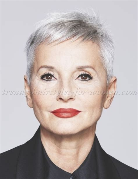 pixie haircuts for gray hair hairstyles 50 pixie cut for grey hair 3810