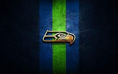 Seahawks Seattle Football Nfl Metal American Golden