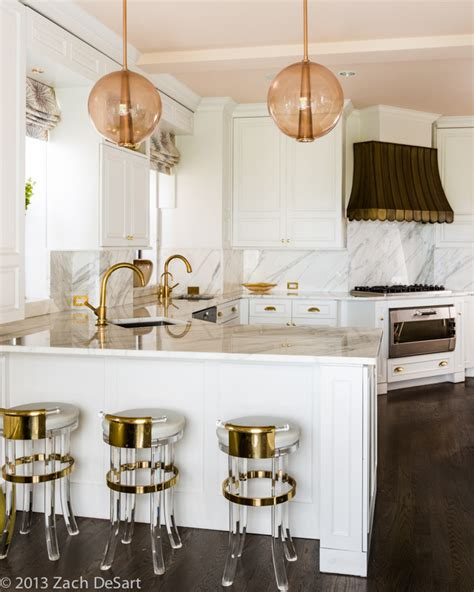 White Marble And Gold  Interiors By Color