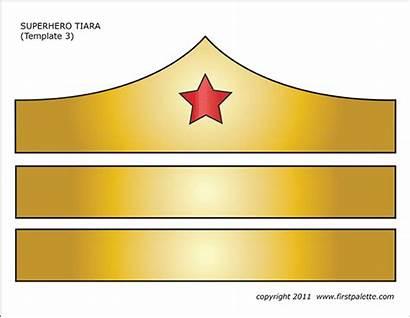 Wonder Woman Tiara Clipart Crown Printable Superhero