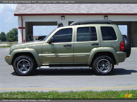 green jeep liberty renegade 2003 jeep liberty renegade 4x4 in cactus green pearl photo